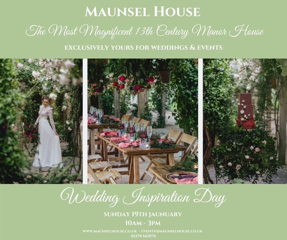 Wedding Inspiration Day Sunday 19th January 10am - 3pm 1